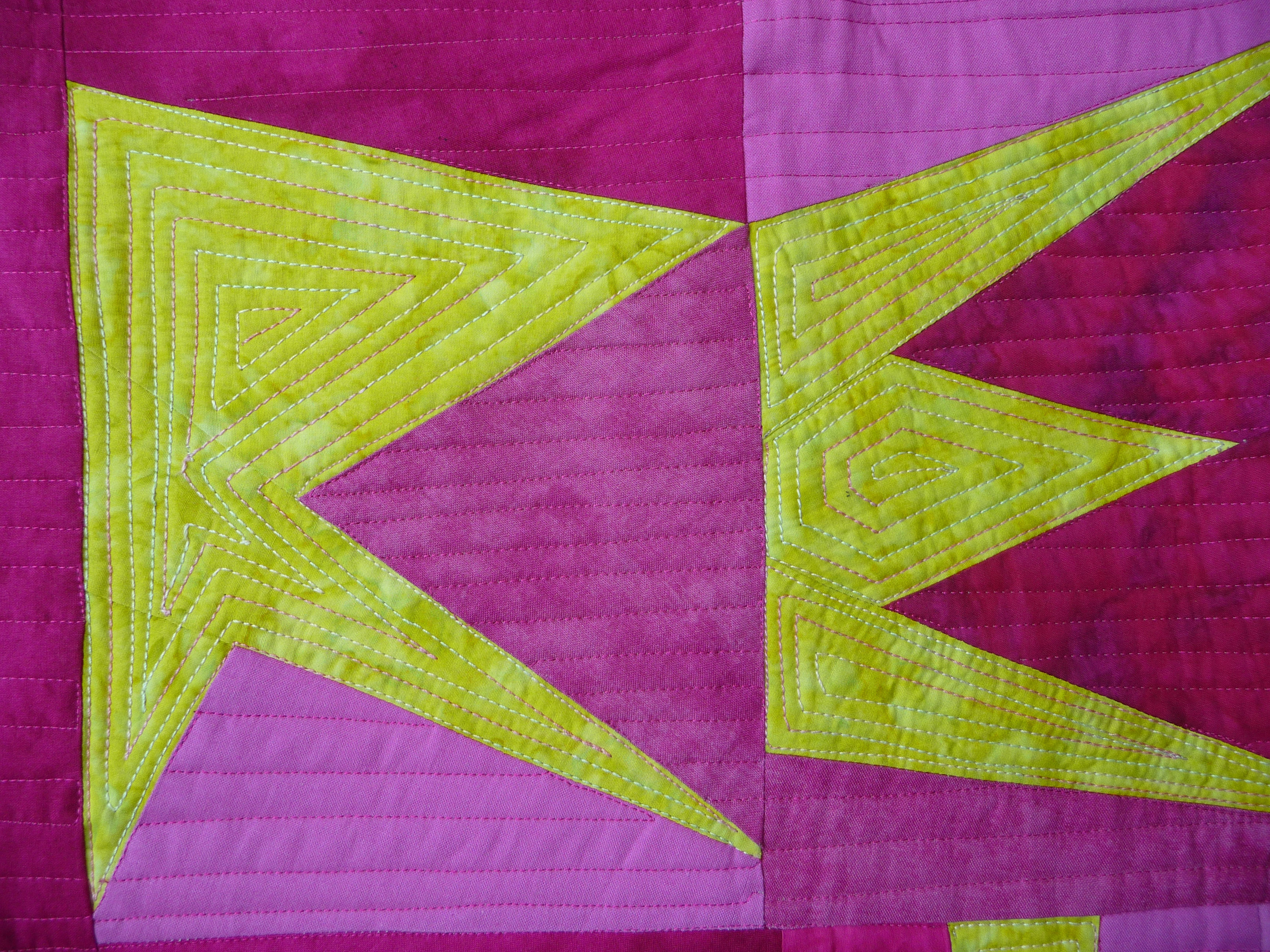 Toni Furst Smith Conscious Quilts Resist Sister (Detail)